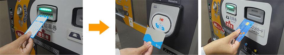 前精算機でクレジットカードや電子マネーが使えるようになりました