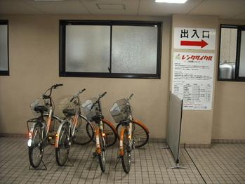 自転車にはノーパンクタイヤを使用していますので、 安心してご利用いただけます。